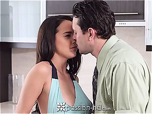 bare hottie Dillion Harper plays with penis