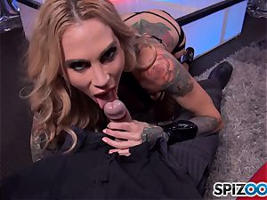naughty Sarah Jessie munches on chisel and has her honeypot cracked into