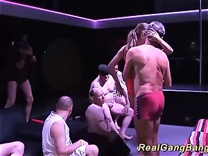 Her very first group sex party