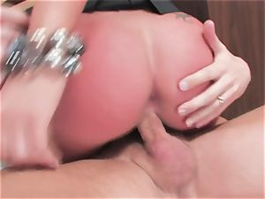 big-titted fuckslut Kerry Louise gets tucked rock-hard and earns a ginormous explosion of sizzling spunk