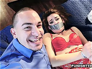 Harley Ann wolf gagged and nailed harsh