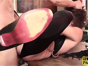 red-haired british slave analed and corded