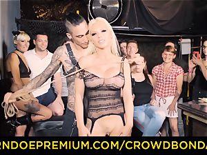 CROWD restrain bondage - Silicone baps light-haired ultra-kinky public sex