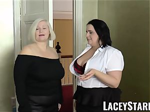 LACEYSTARR - women spunked on their sizzling faces by bbc