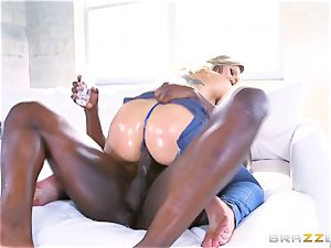 Addison Lee plunged by a phat black manstick in her caboose