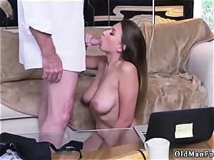 Latino father and ambisexual hotwife boy very first time Ivy amazes with her ginormous knockers and butt