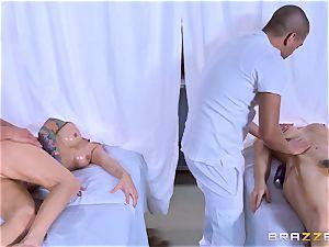 Monique Alexander and Chanel Preston love joint massage smashing