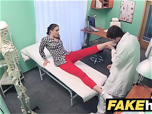 faux polyclinic doctor prescribes goopy facial cumshot