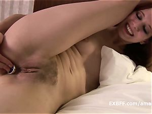 jewel buttfuck jiggling orgasm using homemade hairy pussy