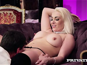 Private.com - huge-boobed Victoria Summers inhales and plumbs