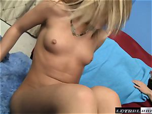 Ally Kay surprises this stud with an unexpected manstick service