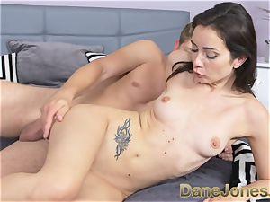 Dane Jones small freckled Italian damsel gets internal ejaculation