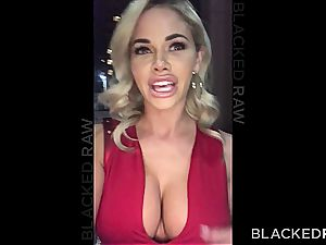 babe Jessa Rhodes can't fight back to the enormous black dong