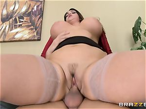 Alison Tyler gets her chubby snatch dicked in the office
