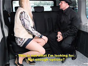 ravaged IN TRAFFIC - steaming backseat fucky-fucky with Czech platinum-blonde
