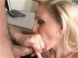 Julia Ann is a hardcore milf who wants to put her labia on a rock hard chisel