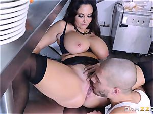 Kitchen inspector Ava Addams takes a chefs weenie deep