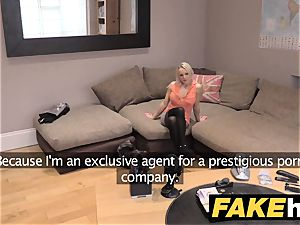 fake Agent UK nice kinky milf with shaven snatch