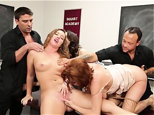 Classroom splooging session with Veronica Avluv and Maddy OReilly
