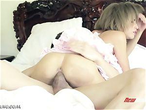 older brother punish his ultra-kinky tiny sista Natasha milky