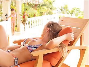 Madison Ivy and Nicole Aniston honeypot fun in bikinis