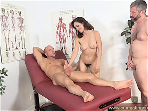Jade Nile Has Her husband gargle lollipop and witness Her