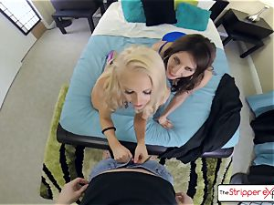 Alix Lynx and Addison Ryder get pounded by a huge fuck-stick