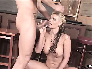 Phoenix doing it all to satiate her guy with her labia
