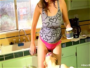 Alison Tyler and Katie Summers shag in the kitchen
