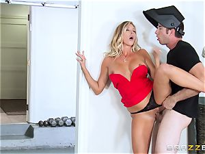 steaming wifey Samantha Saint pummels her spouses brother