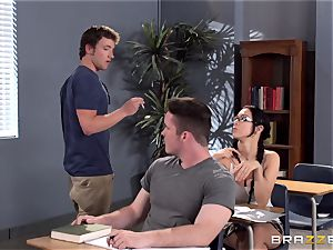 big-chested tutor Ava Addams is pounded by her student