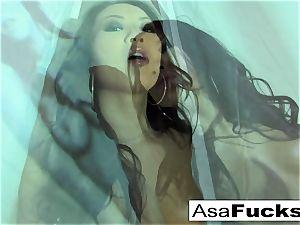 gorgeous Asa Akira Plays With Her moist vulva