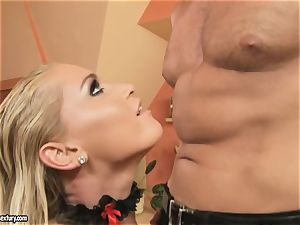 Kathia Nobili like wanking at penis standing attention