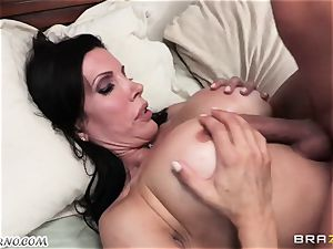 sonny observes as his parent pounds his mature mistress with meaty baps