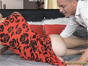 DaneJones stellar ash-blonde wife deep-throats and plows her guy