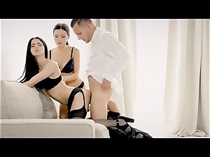 THE white BOXXX - FFM 3 way with Russian Sasha Rose