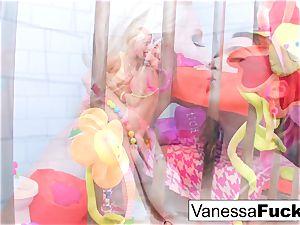 Vanessa and Natasha sapphic jail