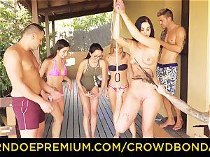 CROWD bondage Outdoor pool intercourse for steaming Loren Minardi